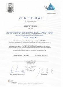 Zertifikat- GPM Senior Projekt Manager