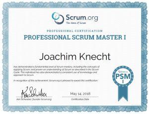 Zertifikat - Professional Scrum Masterhttps://www.scrum.org