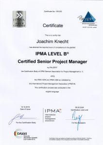 GPM Zertifikat- IPMA Senior Projekt Manager